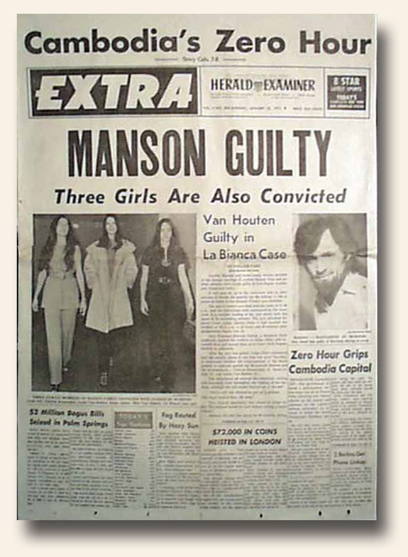 Great Headlines Speak For Themselves Charles Manson Is