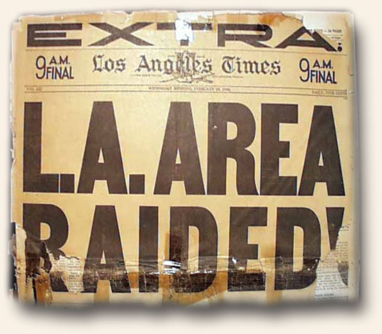 Los Angeles Attacked - 1942