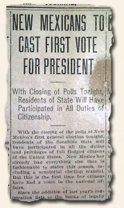 First Presidential Election in New Mexico - 1912