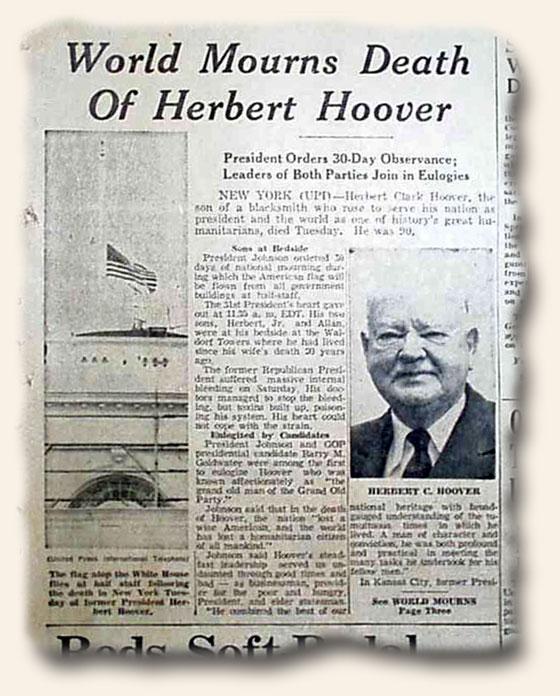 Blog-10-20-2014-Herbert-Hoover-Death