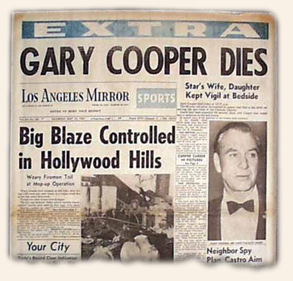Gary Cooper's Death