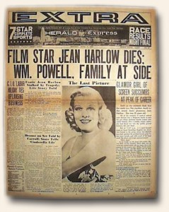 Jean Harlow Death Report