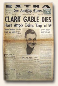 Clark Gable Death Report