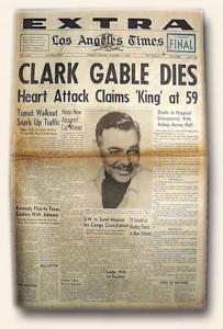 Clark Gable Death Report